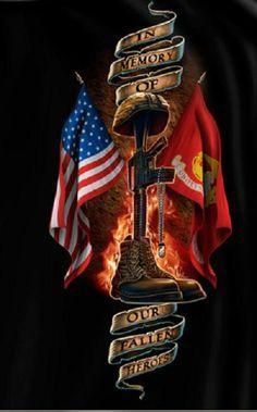 We honor our fallen heroes on Memorial Day Military Quotes, Military Humor, Military Love, Military Veterans, Military Art, American Soldiers, American Flag, American Pride, American History