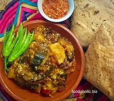 Aloo Baingan Ki Sabzi, Potato Eggplant  Curry