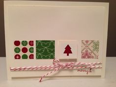Stampin' Up! Christmas card idea.
