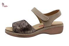 Chaussure femme confort en cuir Piesanto 8807 sandale semelle amovible  confortables amples - Chaussures piesanto ( cc890f704f77