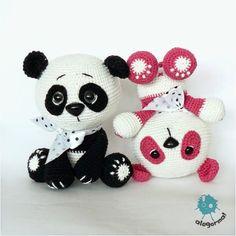 Aleksandra Goryniak-Maziarka alegorma! panda, szydełko www.polandhandmade.pl  #polandhandmade #zabawkarstwo #amigurumi