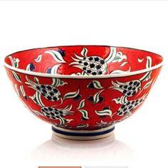 Traditional Tile, Glazed Tiles, Wood Art, Decorative Bowls, Glass Art, Turkey, Pottery, Tableware, Red