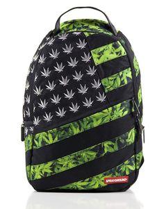 Sprayground American Flag Diesel Weed Marijuana Backpack Laptop Bag #Sprayground #Backpack
