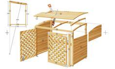 Mülltonnenbox bauen DIY