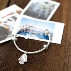 This 925 Sterling Silver Hamsa Hand Bracelet is a protective sign, bringing good luck and fortune.