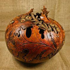 Carved Leaf Bowl
