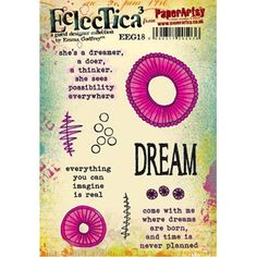 Paper Artsy ECLECTICA3 EMMA GODFREY 18 Rubber Cling Stamp EEG18