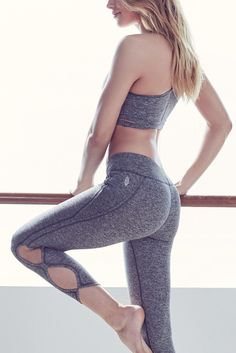 These supersoft workout leggings from Free People are crafted with smooth flatlock seaming with infinity design cutouts along the legs for a contemporary look.