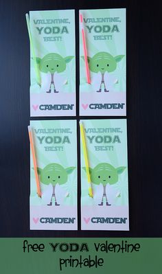 Meet The Dubiens - adorable Yoda Valentine