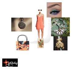 """""""Lacy Coral"""" by yxtabay ❤ liked on Polyvore featuring Lush, Palm Beach Sandals and Emilio Pucci"""