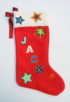 Luxury Personalised Handmade Christmas Stocking Gift - Name: Jack Roses Luxury, Vintage Fabrics, Handmade Christmas, Christmas Stockings, Trending Outfits, Handmade Gifts, Holiday Decor, Needlepoint Christmas Stockings, Kid Craft Gifts