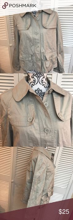 Ann Taylor Loft Jacket Size medium  New without tags   Never worn.  Perfect year round Jacket  Khaki in color Ann Taylor Jackets & Coats