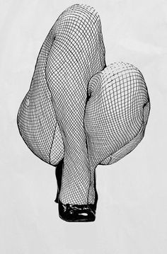 Fishnets - I'm really impressed with the way they captured the shape of the leg using the curves and streatch of the lines of the fishnets