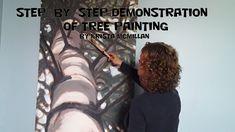 Tree Paintings White Pine (Step 1 Black)