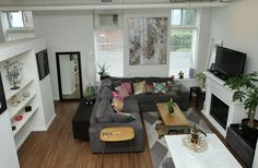 Toronto Photos, Post And Beam, Mosaic Tiles, Shelving, The Unit, Couch, Flooring, Lofts, The Originals