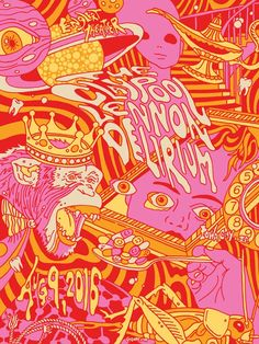 created this purple variant psychedelic trip of a for The Claypool Lennon Delirium featuring of and Sean Ono Lennon. Bedroom Wall Collage, Photo Wall Collage, Collage Art, Claypool Lennon, Les Claypool, Psychadelic Art, Hippie Art, Graphic Illustration, Art Inspo