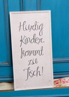 Druck auf Fotopapier *Hurtig Kinder, kommt zu Tisch* // print on photo paper by Hey Luis`chen via DaWanda.com