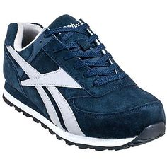c15a82ddec4a Reebok RB1975 Mens Navy Leelap EH Steel Toe Retro Jogger Oxford Shoes Steel  Toe Tennis Shoes