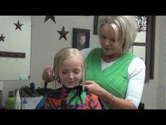 Cut Short Style into Little Girl's Hair