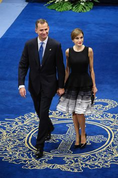 King Felipe, Queen Letizia and Queen Sofia attended the Princess of Asturias awards ceremony at the Campoamor Theatre on October 23, 2015 in Oviedo, Spain.