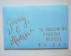 Wedding or special event hand-addressed envelopes