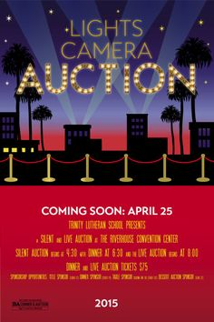 Hollywood Lights, Red Carpet, Movie Themed Auction, fundraiser, red carpet, event, school. I would love to customize this for your event! Please contact me for details.