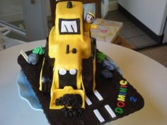 digger cake, no instructions