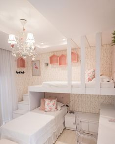 15 Cute Bedroom Ideas for Girls - Cool Bedroom Design Room Design Bedroom, Girl Bedroom Designs, Small Room Bedroom, Bedroom Decor, Bedroom Themes, Girls Bedroom, Kid Bedrooms, Bedroom Furniture, Girls Bunk Beds