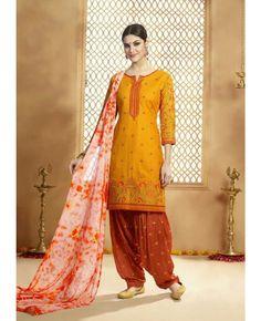 Top (Kameez) : Pure Cotton  Bottom (Salwar) : Santoon  Dupatta : Jaipuri Dyed Nazneen