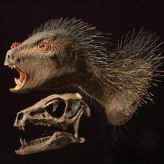 """""""Descubren nueva especie de dinosaurio mezcla de puercoespín y vampiro"""". CORREO. 4 OCT 2012."""