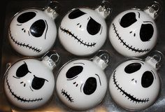 Jack Skellington ornaments [DIY here: http://morganisedchaos.blogspot.com/2011/06/jack-skellington-part-6.html]