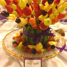 Fruit Kabobs love this w ribbon
