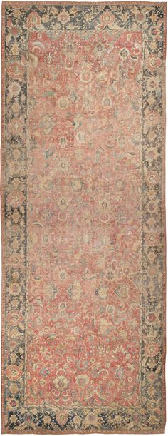 Persian Antique 17th Century Esfahan Rug, Country of Origin / Rug Type: Persian Rugs, Circa Date: 17th Century 11 ft 4 in x 30 ft (3.45 m x 9.14 m)