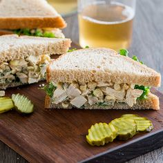 Chicken and Corn Sandwich | Put a fun spin on classic chicken salad sandwich with sweet bites of fresh corn.