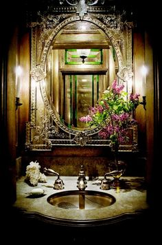 If this was my bathroom mirror I think I would easily face everyday feeling even more a princess than perhaps I ought!!