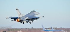 F-16 from the 177th Fighter Wing takes off from Atlantic City International Airport. Air Force photo