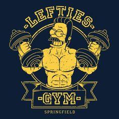 #flanders #simpsons #lefty #gym #tshirts
