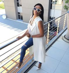Fridays in the 'Burg. White on white! Chic Outfits, Trendy Outfits, Fashion Outfits, Womens Fashion, Fashion Ideas, Black Girl Fashion, Fashion Looks, White Fashion, Culottes