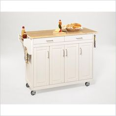 Home Styles Create-a-Cart 49 Inch Wood Top Kitchen Cart in White - 9200-1021 - Lowest price online on all Home Styles Create-a-Cart 49 Inch Wood Top Kitchen Cart in White - 9200-1021