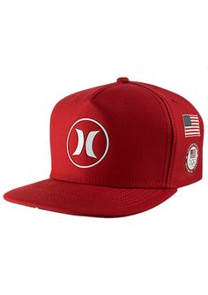 Shop Hurley Dri-Fit Team Snapback Hat in Gym Red  5a44cc1fd8e