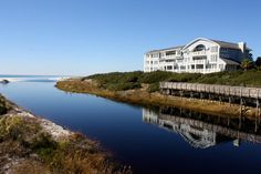 View of Dune Haven at the Crossings from Camp Creek ...Bridge...looks quite familiar!! Across from our old house!