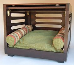 [gallery Fancy dog crates are not bad ideas to make your lovely dog more comfortable when relaxing. To make a dog crate feels so homey, choose one that have eye-catching interior.
