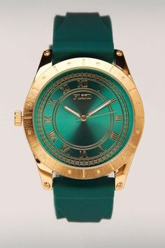 emerald green watch - Pantone color of 2013 Emerald Green, Green And Gold, Emerald City, Emerald Color, Green Diamond, Fashion Accessories, Fashion Jewelry, Jack Threads, Turquoise