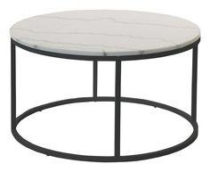 Accent pyöreä sohvapöytä, väri marmori, jalka musta, valkoinen tai messinki