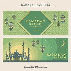Decorative ramadan banners with mosque and lanters free vector. Banner Design Inspiration, Packaging Design Inspiration, Graphic Design Tips, Ad Design, Ramzan Wallpaper, Ramzan Images, Mosque Vector, Ramadan Poster, Mubarak Ramadan