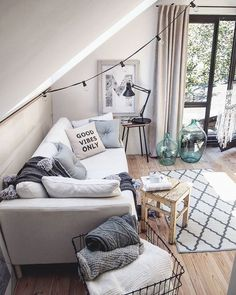 Love the oversized couch! More