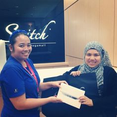 Thank you Cik Fazalena for the support in Switch City One Megamall, Kuching, our latest outlet no19!