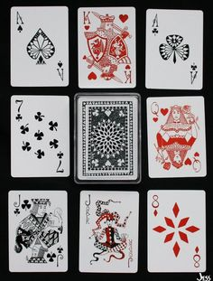 Playing Cards + Art = Collecting • Lucky Deck Playing Cards by Jessica Siemens