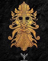 nordic god mask – Google-Suche Viking Designs, Celtic Designs, Norse Tattoo, Viking Tattoos, Viking Symbols, Viking Art, Symbole Viking, Grandeur Nature, Tattoo Project