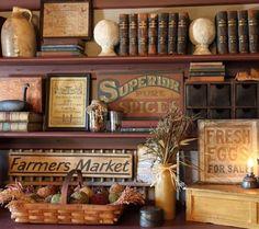 vintage general store shelving | visit sampler com